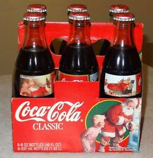 COCA-COLA 1995 CHRISTMAS BOTTLES 6 PACK