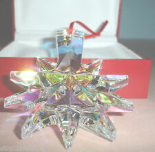 Baccarat Christmas Iridescent Star Crystal Ornament Noel 2013 #2804703 New