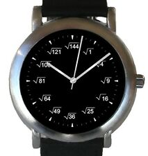 """Mathematics Dial"" Theme Watch Has Square Root Equations At Each Hour Indicator"