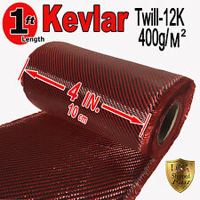 4 in x 1 FT - KEVLAR-CARBON FIBER ARAMID ~ Fabric-Twill Weave - 3K/2K - 200g/m2