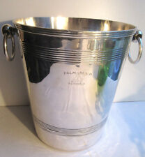 Champagne bucket Art Deco silver metal, signed CANNES Palm Beach, Otto Wiskemann