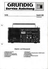 Service Manual for Grundig Satellite 600