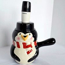 BONJOUR Penguin Hot Chocolate Coffee Tea Pot Pitcher Maker & Milk Frother Mixer