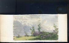BELLE AQUARELLE ETUDE PAYSAGE MONTAGNE CHAMONIX ALPES 1914 DUCHESNEXIXE