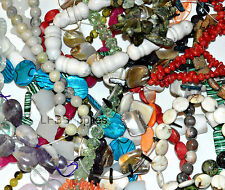Wholesale 1/2 lb Gemstones Stone Beads 3mm-28mm Mixed Stones Gems Soup Mixed Lot