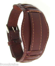 18MM BROWN VINTAGE WAR MILITARY STYLE  RUSSIA USSR Soviet Leather Watch Band