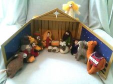 14 Piece Wool Felt Old World Christmas Nativity Set Manger By Twelve Twenty Five
