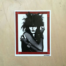 Supreme box sticker vinyl decal skateboard bumper Siouxsie Banshees