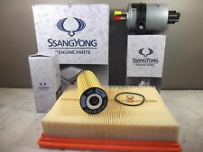GENUINE SSANGYONG ACTYON SPORTS UTE DIESEL FILTER PACK (OIL + AIR + FUEL FILTER)
