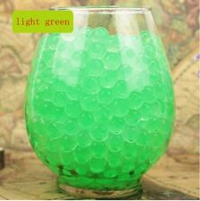 NEW 600pcs Green Crystal Soil Gel Jelly Ball Water Pearls Wedding Home Decor ZO1