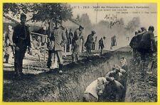 cpa Rare 82 MONTAUBAN en 1914 Dépot PRISONNIERS de GUERRE creusant une TRANCHÉE