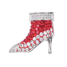 Clay Rhinestone high-heeled shoes Chunk Snap Button fit for Noosa Necklace XA215