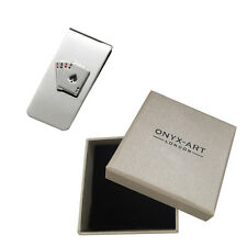 Aces Casino Playing Card Money Clip In Deluxe Gift Box