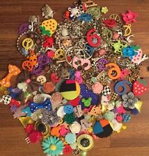 New 100 Lot Flat back & Charms Scrapbooking Craft Embellishments Mixed Lot
