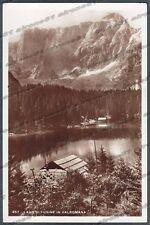 UDINE TARVISIO 10 LAGO di FUSINE - VALROMANA Cartolina FOTOGRAFICA viagg. 1936