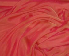 "Silk CHIFFON Fabric IRIDESCENT CORAL GOLD 12""x27"" remnant"
