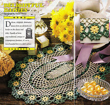 Crochet Pattern ~ DELIGHTFUL DAISIES OVAL DOILY ~ Instructions