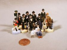 Charlie Chaplin Figures 1 inch Porcelain Miniatures French Feves