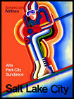 SALT LAKE CITY...USA... Vintage Art Deco Skiing/Travel Poster A1A2A3A4Sizes