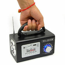 NEW Mini Portable Bass FM Radio home outdoor Speaker MP3 Player USB TF Card