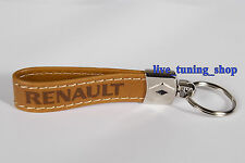 New Renault Leather Key Ring Megan Scenic Clio Espace Laguna Master Trafic Twizy