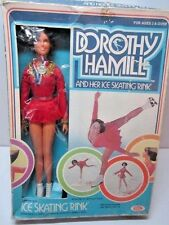 VINTAGE 1977 DOROTHY HAMILL & HER ICE SKATING RINK DOLL IN BOX 1970'S IDEAL TOY