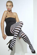 Blickdichte Zebra Strumpfhose NEU - Zubehör Accessoire Karneval Fasching