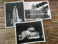 3 PHOTOGRAPHIES ARGENTIQUE MONUMENTS BATIMENT INDOCHINE COCHINCHINE 1950