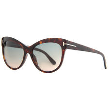 Tom Ford Lily TF 430 52P Havana Brown Blue Gradient Women's Cat Eye Sunglasses