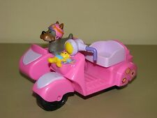 Fisher Price Little People Motorcycle Scooter With Side Car and Dog pink