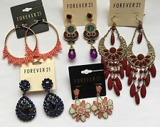 NWT Wholesale C lot 5 pairs Forever 21 rhinestone teardrop chandelier earrings