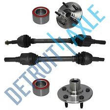 Rear Left & Right CV Axle Drive Shaft + 2 Wheel Hub and Bearing Assembly NO ABS