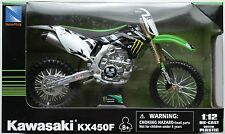 NEWRAY-KAWASAKI kx450f 2012 Monster Energy 1:12 Nuovo/Scatola Originale MOTO CROSS