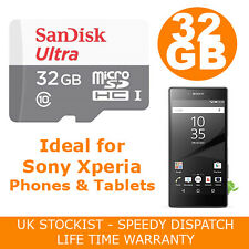SanDisk 32GB Micro SD HC Memory Card For Sony Xperia M4 Aqua Mobile Phone