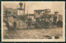 Croazia Fiume Nave Espero PIEGATA cartolina QT4081
