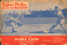 1948 Philadelphia Phillies St Louis Cardinals Scorecard Musial Ashburn Slaughter