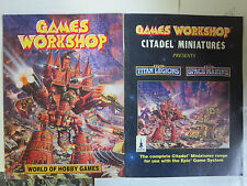 "Games Workshop Lot of 2Diff Magazines ""World of Hobby Games"" Citadel Miniatures"