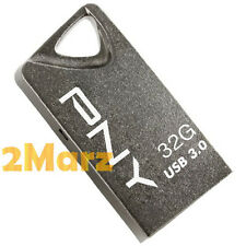 PNY T3 Attache 32GB 32G USB 3.0 Flash Drive Stick Thumb Disk Key Ring Mini Metal