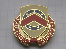 125th SUPPORT BATTALION / BULLDOG SUPPORT /  US ARMY CREST...... Pin (114b)