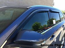 Tape-On Wind Deflectors for a 2000 - 2004 Nissan Frontier Crew Cab (4 Door)