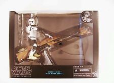 HASBRO STAR WARS THE BLACK SERIES SPEEDER BIKE VEHICLE WITH BIKER SCOUT FIGURE