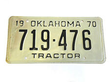 1970 Oklahoma Semi Tractor license plate Farm Equipment Ok Mack Peterbuilt #53