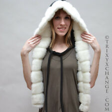 1201 Black Fleece Hoodie Thermal White Mink Furry Hat Hoody Coat Jacket Scoodie