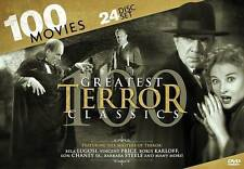 100 Greatest Terror Classics (DVD, 2013, 24-Disc Set) Free Shipping!