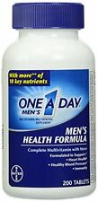 One-A-Day Multivitamin Men's Health Formula 200 Tablet Bottle Each