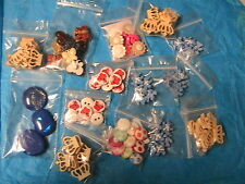 98 BUTTONS #A~BUTTERFLY~TEDDY BEAR~FLOWER~sew~doll~jewelry~arts LARGE VARIETY