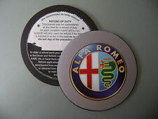 Magnetic Tax disc holder fits any alfa romeo free postage clas