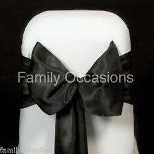 100 SATIN SASHES CHAIR BOW SASH WIDER SASHES FOR A FULLER BOW UK SELLER