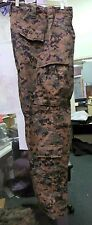 USMC MARINE CORPS WOODLAND MARPAT COMBAT TROUSERS FROG GEAR FR MEDIUM REGULAR