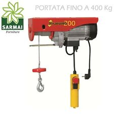 Tiratutto 200 Montacarichi elettrico portata 200/400 Kg Argano Montacarico